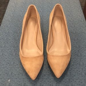 Aldo nurse suede chunky heel shoes